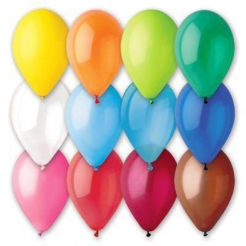 """Воздушные шары Gemar 12"""" (30 см), Пастель Ассорти 80, 100 шт (G110)"""