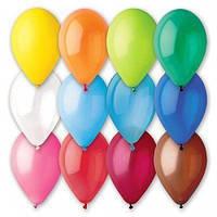 """Воздушные шары Gemar 12"""", пастель Ассорти 80, 100 шт (G110)"""