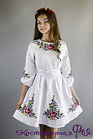 Платье с украинской вышивкой (код 122)