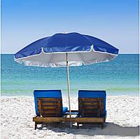 Пляжный Складной Наклонный Зонт 200 см Зонтик Цвет Ассортимент