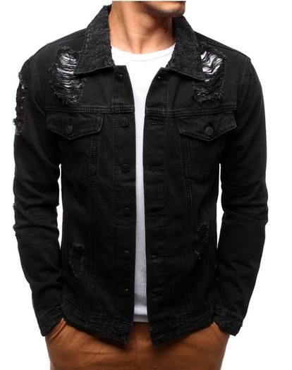Мужская джинсовая куртка Черный
