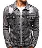 Мужская джинсовая куртка Черный, фото 4