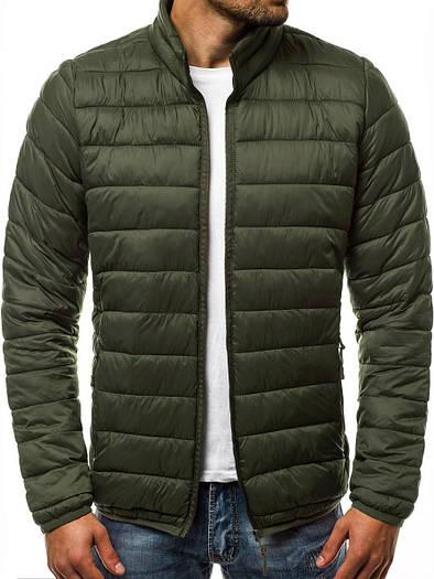 Мужская демисезонная куртка без капюшона Зелёный