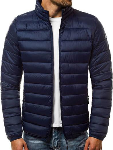Мужская демисезонная куртка без капюшона Тёмно-синий