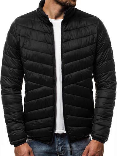 Мужская демисезонная куртка без капюшона №1 Черный