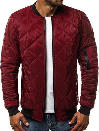 Стёганая мужская демисезонная куртка цветная