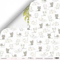 Бумага для скрапбукинга Pur Pur, Котята, 30х30 см, фото 1