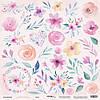 Бумага для скрапбукинга Gentle Morning, Цветы, 30х30 см