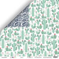 Бумага для скрапбукинга Summer, Кактус, 30х30 см, фото 1