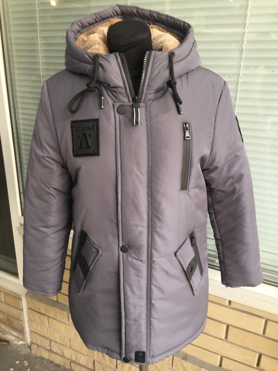 ec354808af1 Зимняя удлиненная куртка-парка на мальчика подростка на овчине рост 135-168  - CityStile