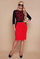 Стильна ділова сукня з креп-дайвінгу з узором, фото 1