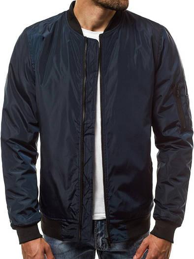 Бомбер мужская демисезонная куртка Синий