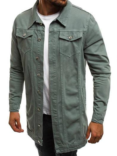 Мужская джинсовая удлиненная куртка 3