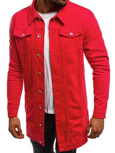 Мужская джинсовая удлиненная куртка 6