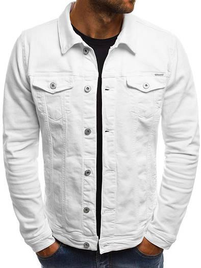 Мужская цветная джинсовая  куртка 1