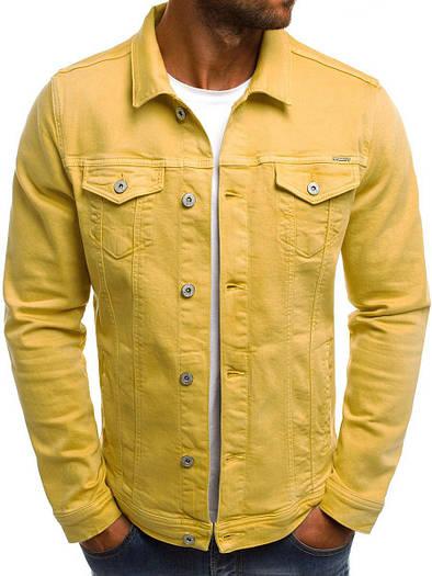 Мужская цветная джинсовая  куртка  2