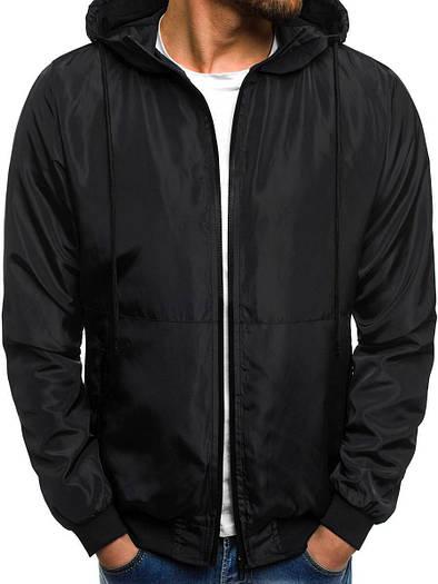Куртка мужская цветная бомбер лёгкая Черный