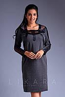 Платье большого размера Likara / трикотаж Алекс / Украина 32-644, фото 1