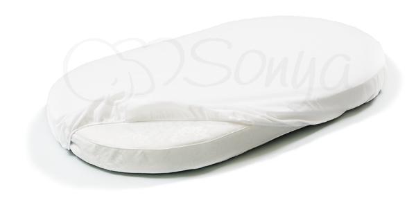 Наматрасник непромокаемый в овальную кроватку ТМ Маленькая Соня 70х120 см