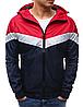 Мужская ветровка  с капюшон Красный, фото 2
