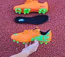 Бутсы Nike Mercurial (оранжевые) 1003(реплика), фото 2