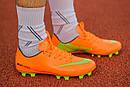 Бутсы Nike Mercurial (оранжевые) 1003(реплика), фото 3