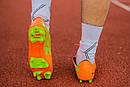 Бутсы Nike Mercurial (оранжевые) 1003(реплика), фото 4