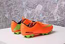 Бутсы Nike Mercurial (оранжевые) 1003(реплика), фото 5