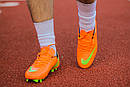 Бутсы Nike Mercurial (оранжевые) 1003(реплика), фото 6