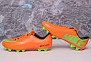 Бутсы Nike Mercurial (оранжевые) 1003(реплика), фото 8