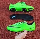 Бутсы Nike Mercurial (салатовые) 1004(реплика), фото 3