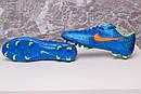 Бутсы Nike Mercurial  X  (Синие) 1008(реплика), фото 9