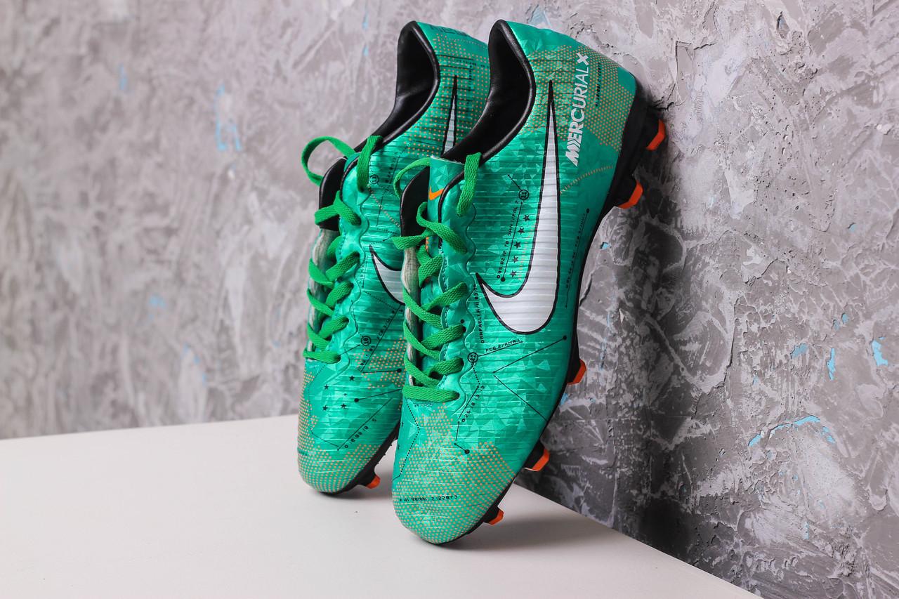 Бутсы Nike Mercurial  X (Зеленые) 1009(реплика)