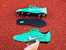 Бутсы Nike Mercurial  X (Зеленые) 1009(реплика), фото 7
