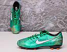 Бутсы Nike Mercurial  X (Зеленые) 1009(реплика), фото 9