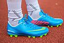 Бутсы Nike Mercurial (синие) 1005(реплика), фото 4