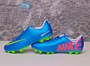 Бутсы Nike Mercurial (синие) 1005(реплика), фото 8