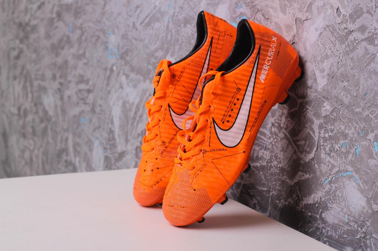 Бутсы Nike Mercurial  X (Оранжевый) 1010(реплика)