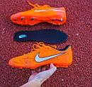 Бутсы Nike Mercurial  X (Оранжевый) 1010(реплика), фото 3