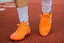 Бутсы Nike Mercurial  X (Оранжевый) 1010(реплика), фото 4