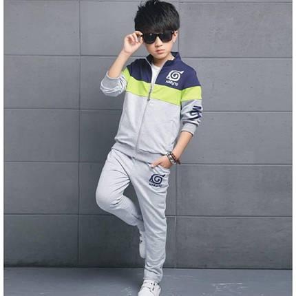 Спортивный костюм детский утепленный Naruto серый, фото 2