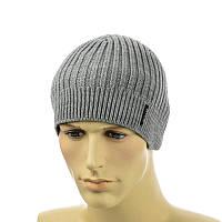Мужская шапка 1*2 серый