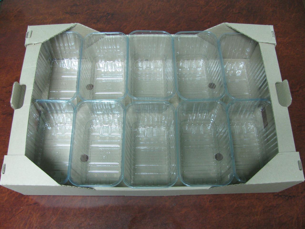 Гофролоток для ягод 590 х385 х138мм на 10 пинеток по 1000 г.