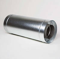 Труба димохідна з нерж. сталі 0,6мм з теплоізоляцією в цинковому кожуху ф110/180  0,25м.