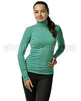 Водолазка гольф женский из полушерсти на флисе, фото 1