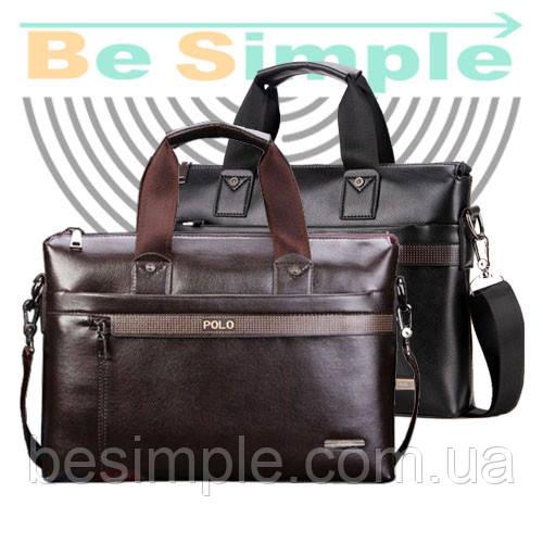мужская сумка-портфель Polo А4 + Подарок