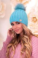 Женская шапка «Идилия» Бирюзовый