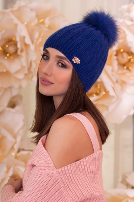Женская шапка «Идилия» Джинсовый