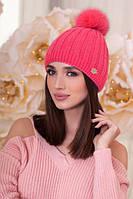 Женская шапка «Идилия» Коралловый