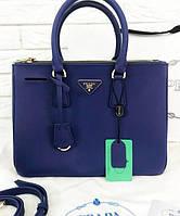 Женская сумка PRADA Saffiano Lux Tote Bag Navy Blue (6874), фото 1